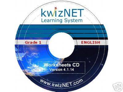 kwizNET Grade 1 English Worksheets CD
